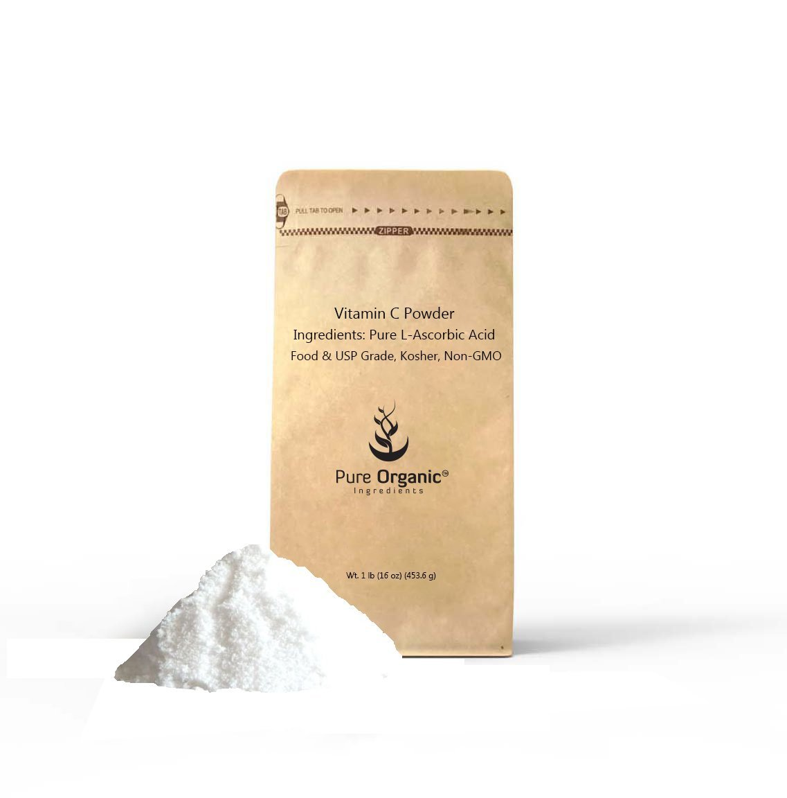 Vitamin C Powder 1 lb (16 oz) L-Ascorbic Acid, Antioxidant, Boost Immune System, DIY Skin Care, Eco-Friendly Packaging (Also Available in 4 oz, 2 lb, 5 lb)