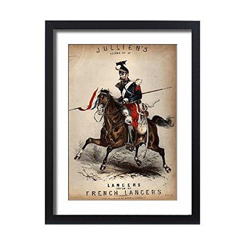Lancer Stage - Framed 24x18 Print of French Lancers (14761358)