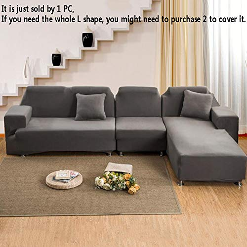 TT&CC Jacquard Slipcover,Stretch Couch Covers Polyester Spandex Fabric Universal Sofa Covers for Sectional Sofa L-Shape Couch-A 4 seaters 235~300cm(93~118inch) (Slipcovers Four Seasons)