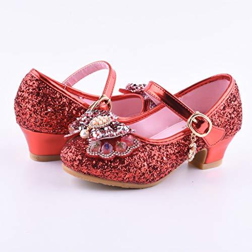671e7893 Zapatos Fiesta Sandalias Bebé De Arco 14 3 Rojo Baile Tango Niñas Princesa  Niños Latino Mitlfuny Lentejuelas Para Rhinestone Verano Primavera Vestir  ...