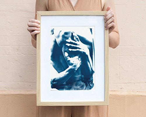 Cyanotype Print, Ugolino and His Sons Marble Sculpture Hands and Legs detail