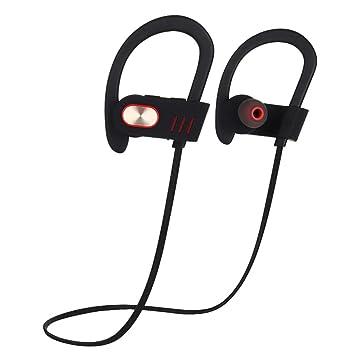 Joyeer Auricular de gancho de oído Bluetooth con micrófono auriculares de música de deporte profesional inalámbrico