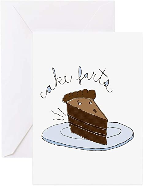 Cool Cafepress Cake Farts Greeting Card Note Card Birthday Card Funny Birthday Cards Online Alyptdamsfinfo