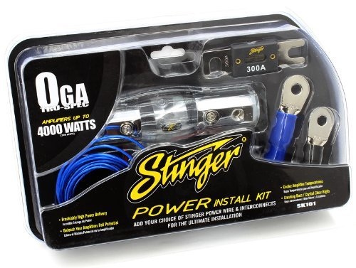Stinger SK101 4000-Watt 1/0-Gauge Car Audio Amplifier ACCESSORY KIT