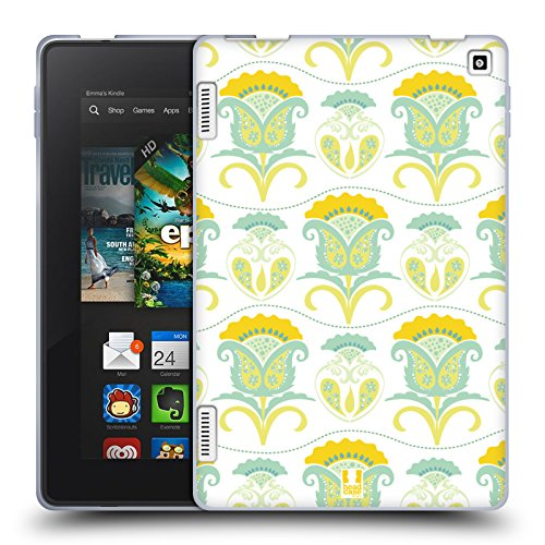 Head Case Designs Floral Daydream Bohemian Patterns Soft Gel Case for Amazon Fire HD ()