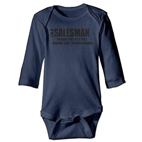 Price comparison product image Richard Unisex Newborn Bodysuits I Am Salesman Girls Babysuit Long Sleeve Jumpsuit Sunsuit Outfit 12 Months Navy