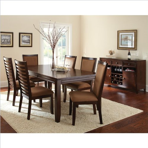 Steve Silver Company Cornell 7 Piece Rectangular Dining Table Set in Espresso
