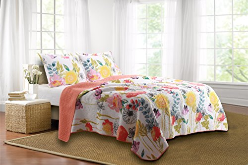 Greenland Home 3-Piece Watercolor Dream Quilt Set, Full/Queen, Multi