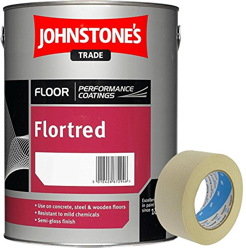 Johnstone's Flortred Floor Paint Safety Yellow 2.5L 2 inch Masking Tape included PPG Architectural Coatings