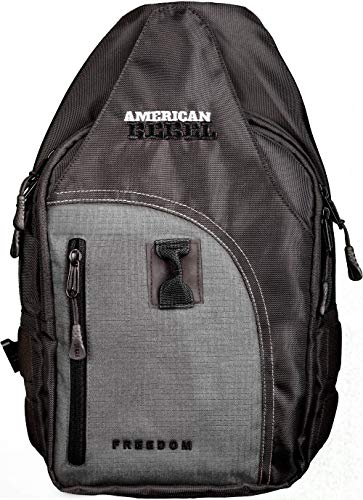 Concealed Backpack Holster for Men and Women, American Rebel Small Freedom Concealed Carry Backpack - Grey/Black