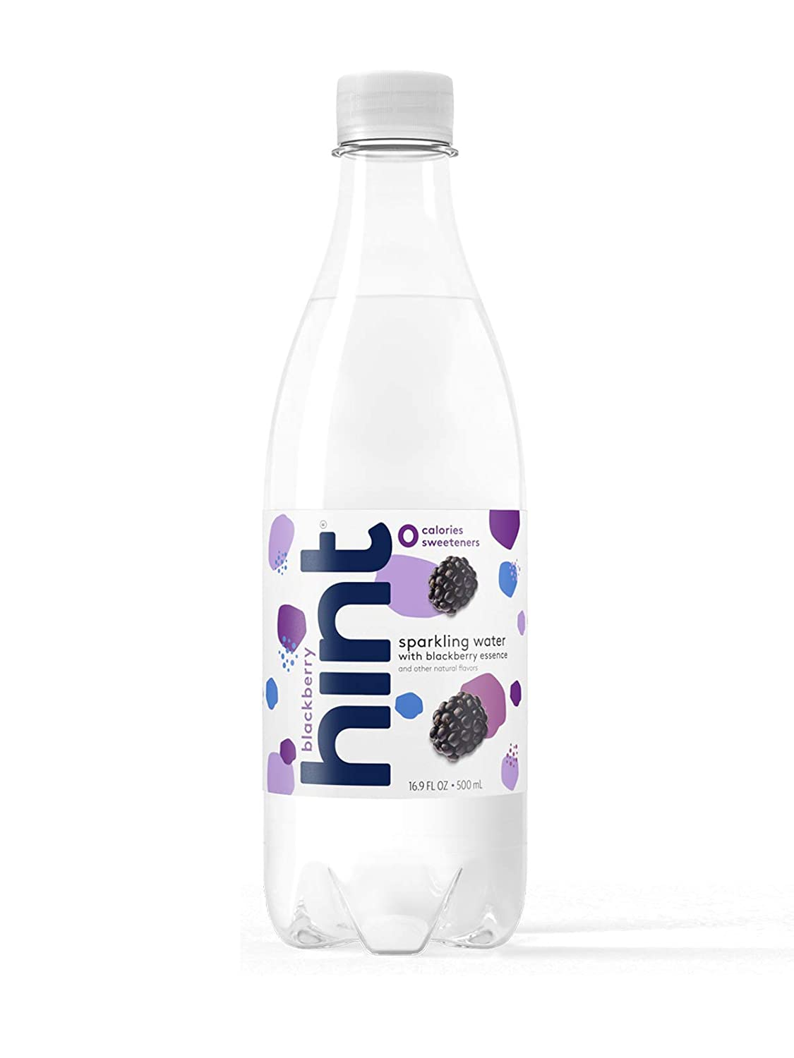 Hint Sparkling Water Blackberry, (Pack of 12) 16.9 Ounce Bottles, Unsweetened Blackberry-Infused Sparkling Water, Zero Sugar, Zero Calories, Zero Sweeteners, Zero Artificial Flavors