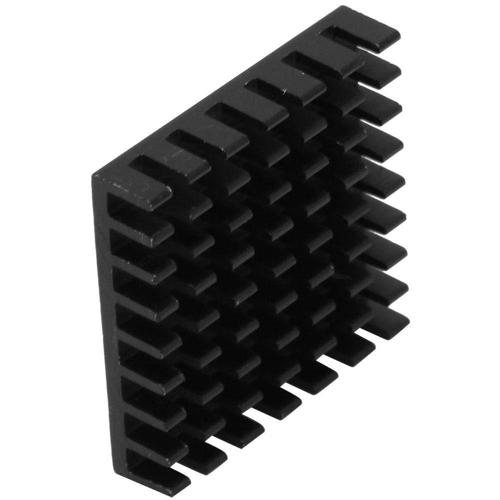 10PCS Circuit Board Chip Aluminum Cooling Fin Heat Sink Cooler Black