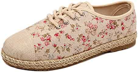 2b3cdd54ce Women Flower Flats Slip On Cotton Fabric Casual Shoesround Toe Student Flat  Shoes Woman
