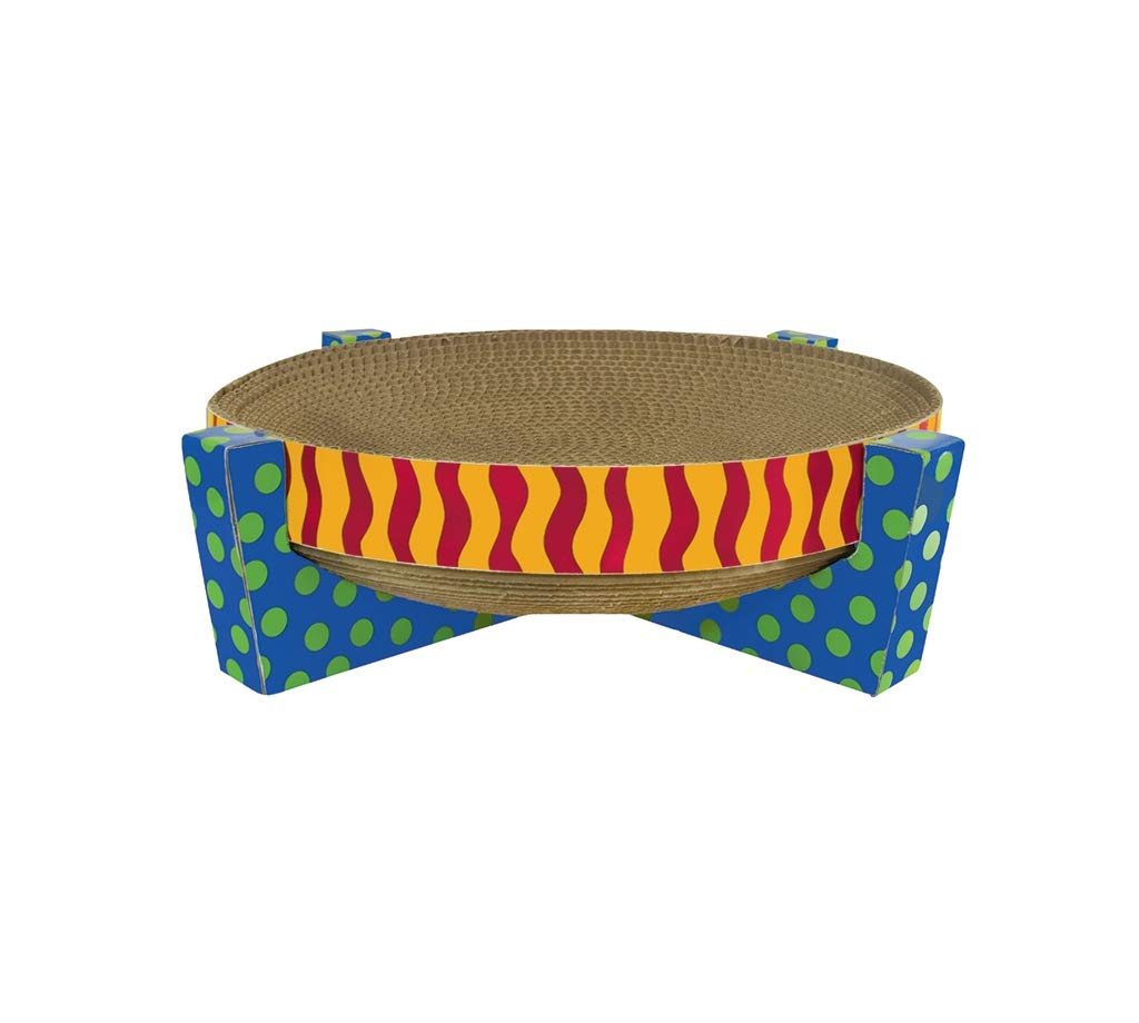 Petstages Easy Life Cat Scratcher and Hammock - Satisfies Kitty's Scratching Needs with Circular Scratchpad Ideal for a Snooze