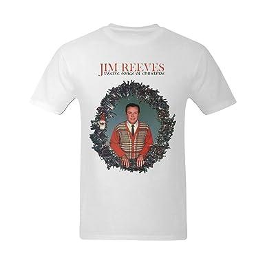 Amazon.com: Kuang Tees Men's Jim Reeves Christmas Songs Design T ...