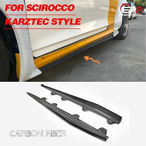 For Scirocco カーボン Karztec Style サイドスカートエクステンション
