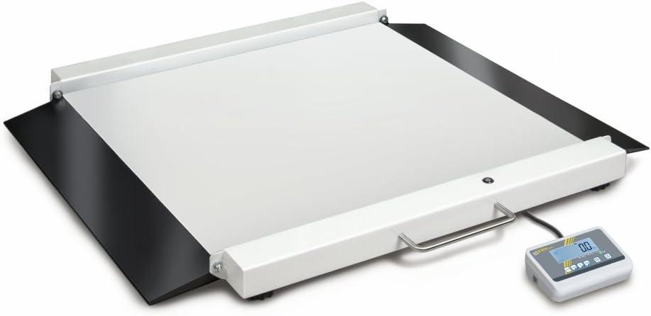 Báscula para silla de ruedas con rampas integradas [Kern MWA 300K-1M] para un acceso cómodo y con autorización de calibración y médica para el uso profesional, Campo de pesaje [Max]: 300 kg