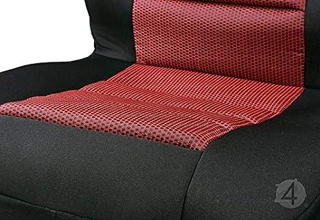 2Stk BD-RUBIN-2STK-258 EIN Set Vordersitze Universelle /Überz/üge Rubin Schwarz-Rot Starkes Material Sitzschoner
