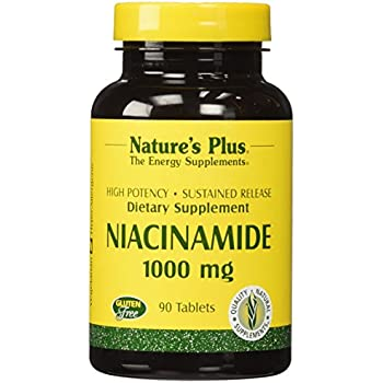 Nature's Plus - Niacinamide 1000mg Time Release Sustained Tablet (1-Pack of 90)
