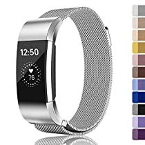 for Fitbit Charge 2 Bands, Fundro Stainless Steel Milanese Loop Metal Replacement Accessories Bracelet Strap for Fitbit Charge 2