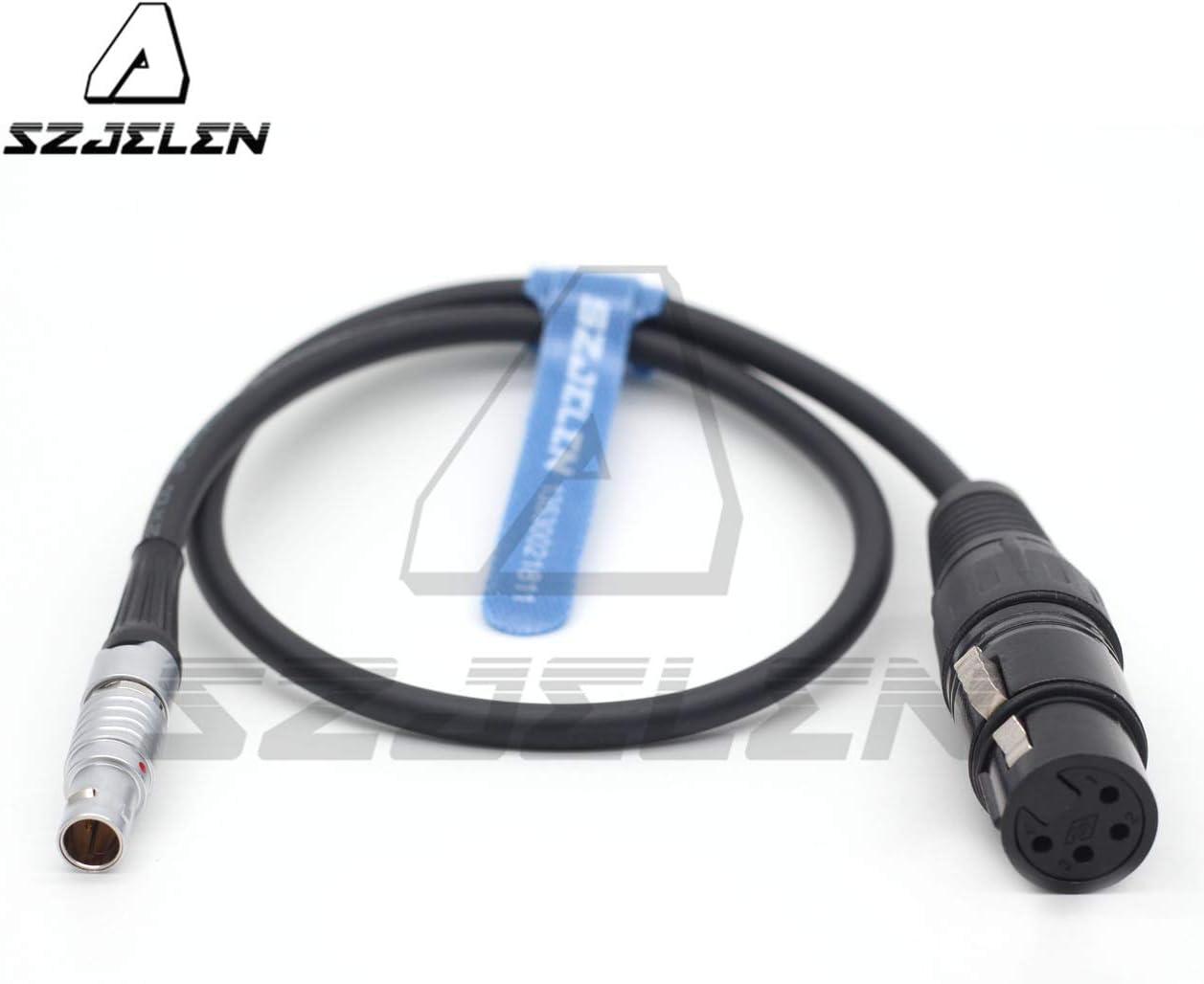 60CM SZJELEN ARRI 12V 0B 2 pin Power Out to XLR 4pin Female for Panasonic Monitor Power Cord
