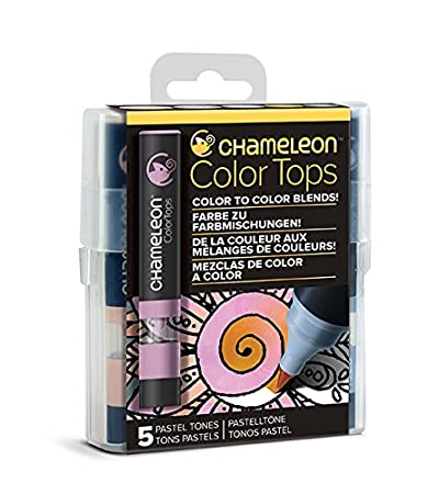 Blue Tones Set of 5 Quick and Easy Blending Color Tops Chameleon Art Products