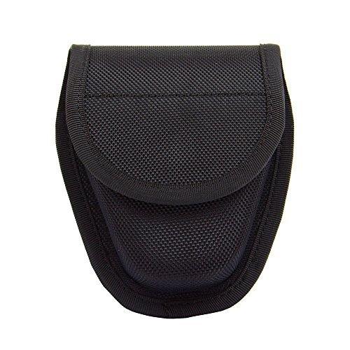 (TTGTACTICAL Hidden Snap Handcuff Case Law Enforcement Military Standard Cuff Pouch with Belt Loop Black)
