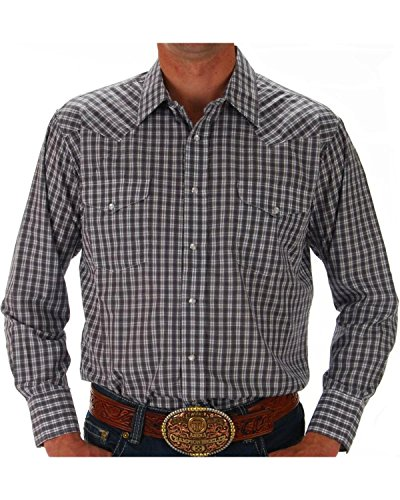 Panhandle Men's Grey Snap Down Western Shirt Multi (Panhandle Western Shirts)