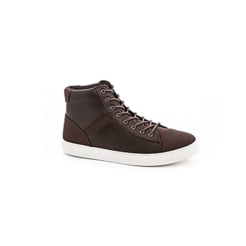f89dde6e70f1 Amazon.com | Franco Vanucci Mens 9963 Vegan Leather Lace Up High Top ...