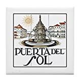 CafePress - Puerta Del Sol, Madrid - Spain - Tile Coaster, Drink Coaster, Small Trivet