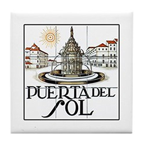 CafePress - Puerta Del Sol, Madrid - Spain - Tile Coaster, Drink Coaster, Small Trivet by CafePress