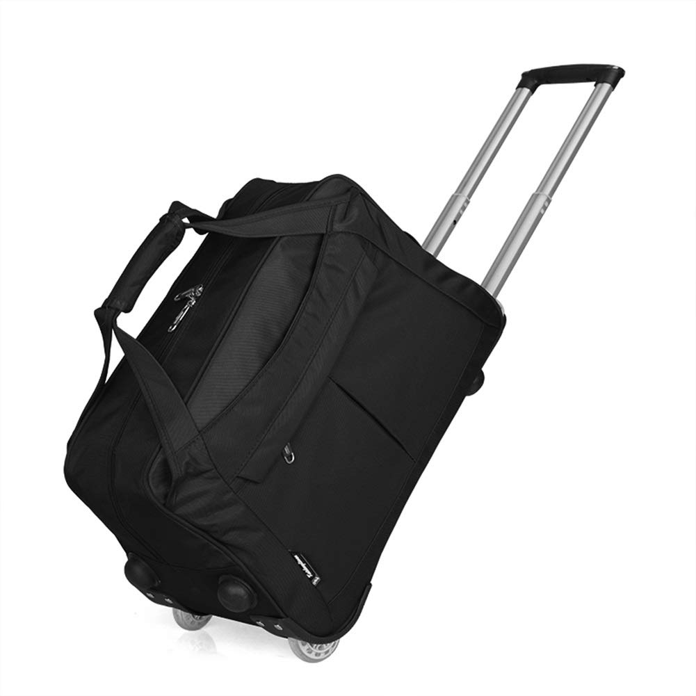 Travel Bags Short Journey Business Trip Foldable Baggage 2 Rounds Trolley Case Luggage Suitcases Carry On Hand Luggage Durable Hold Tingting Color : Black, Size : 472628