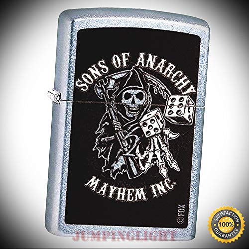 29582 Street Chrome 2017 Classic Sons of Anarchy Windproof Lighter - Premium Lighter Fluid (Comes Unfilled) - Made in USA!