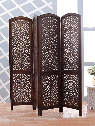 Artesia Handcrafted 4 Panel Premium Quality Wooden Room Partition