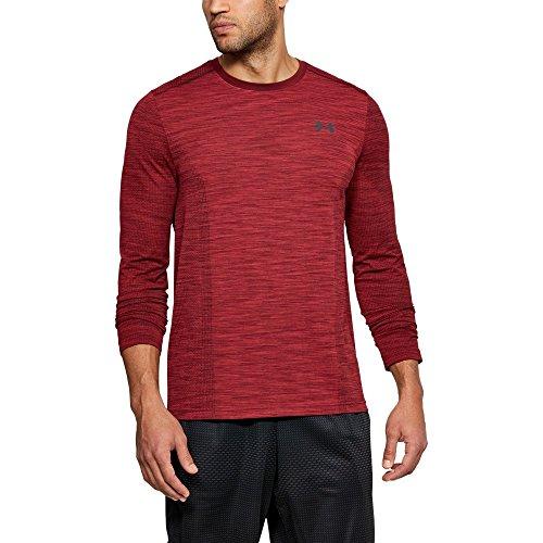 Under Armour Men's Threadborne Seamless Long Sleeve T-Shirt, Pierce (629)/Rhino Gray, Large