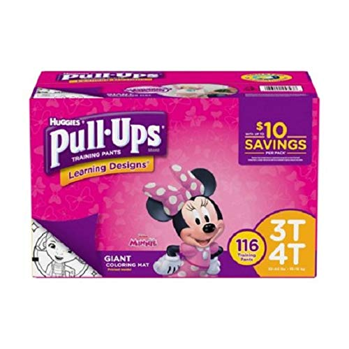 Huggies Pull Ups Training Pants 3T-4T 116 Count Learning Design Girls