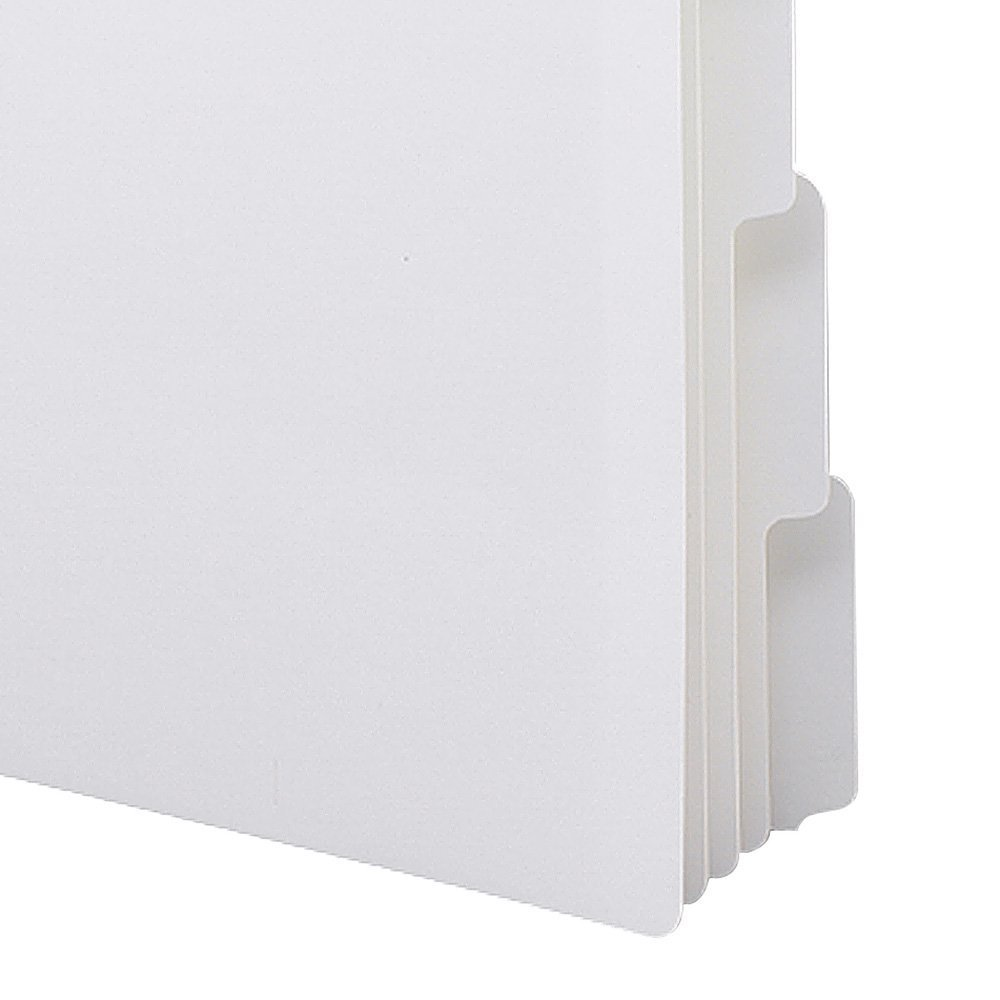 Smead Three-Ring Binder Index Dividers, 1/5-Cut Tabs, Letter Size, White, 5 per Set, 20 Sets per Box (89415) (2 BOXES)