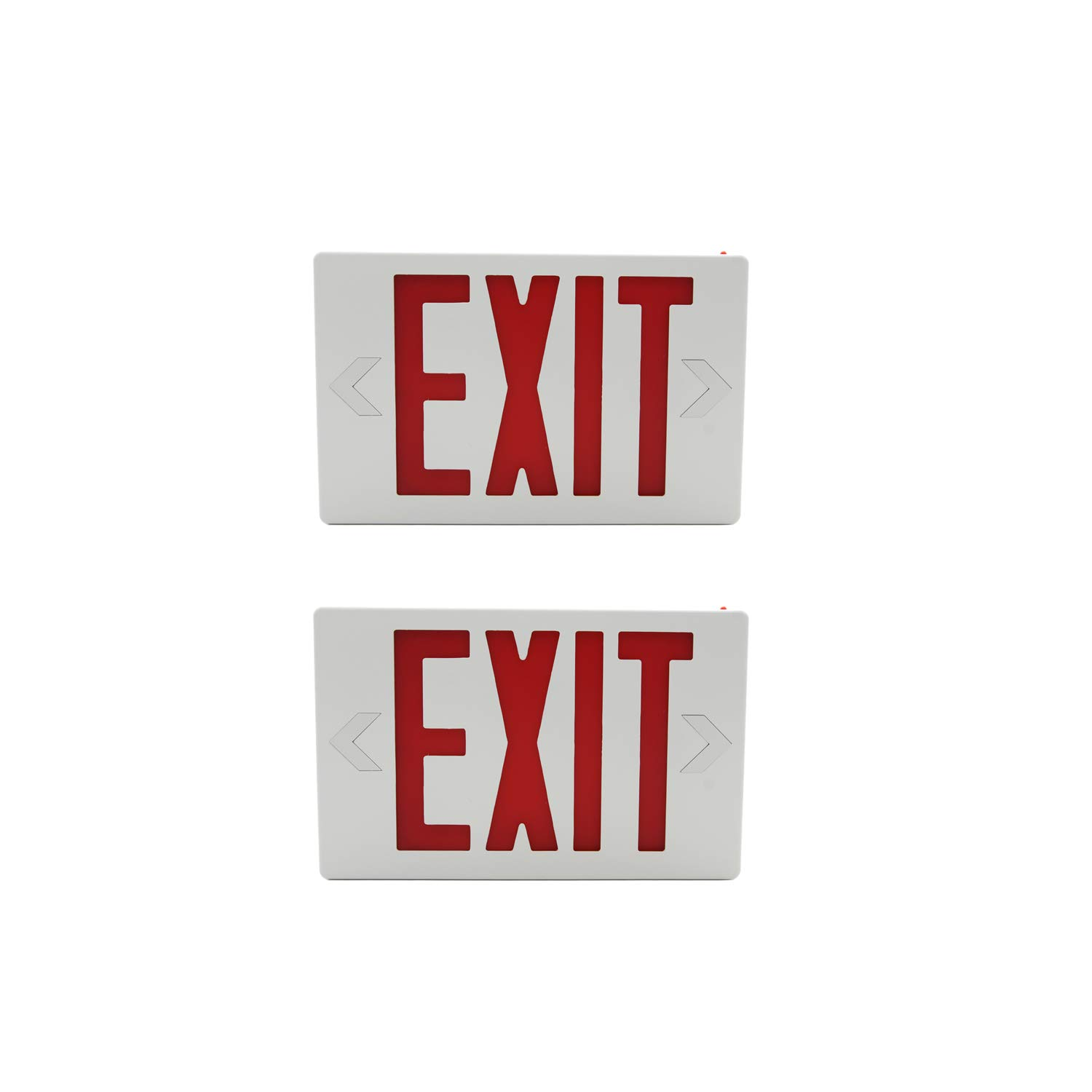 HYD-Parts 2 Packs of LED Exit Sign Emergency Light,UL Certified - Hardwired Red LED Exit Sign, Modern Design - Battery Backup - Emergency Fire Safety