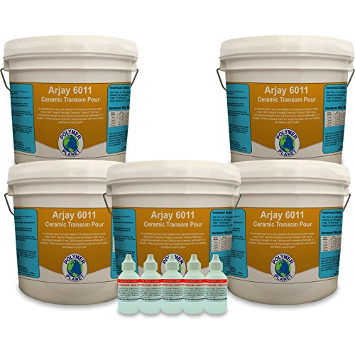 Arjay 6011 Ceramic Pourable Compound Transom Putty - 10 Gallon Kit with Hardener