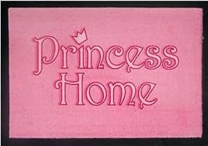 """Felpudo (mensaje """"Princess Home""""), color rosa"""