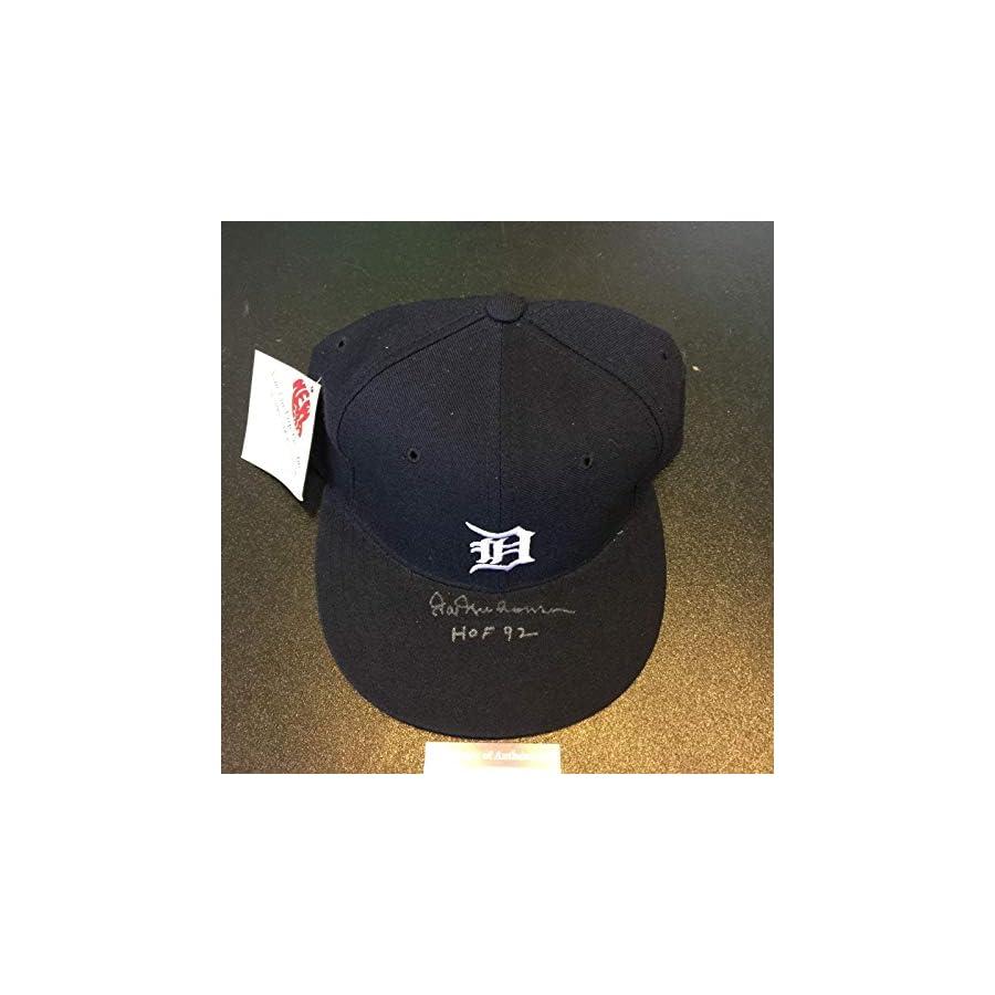 "Hal Newhouser""HOF 1992"" Signed Game Model Detroit Tigers Hat COA PSA/DNA Certified Autographed Hats"