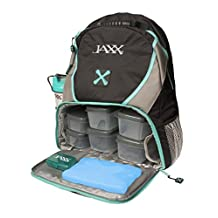 Jaxx FitPak Meal Prep Backpack with Portion Control Container Set
