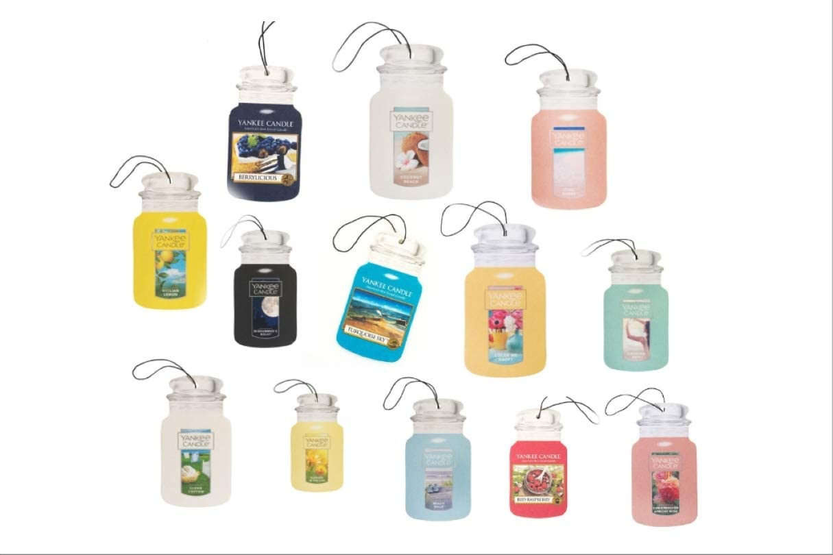 Yankee Candle Car Jars 6 Assorted Variety Scents Paperboard Bundle (Spring and Summer)
