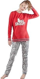Snoopy Pijama Mujer Gisela Camiseta Polar y Pantalón algodón