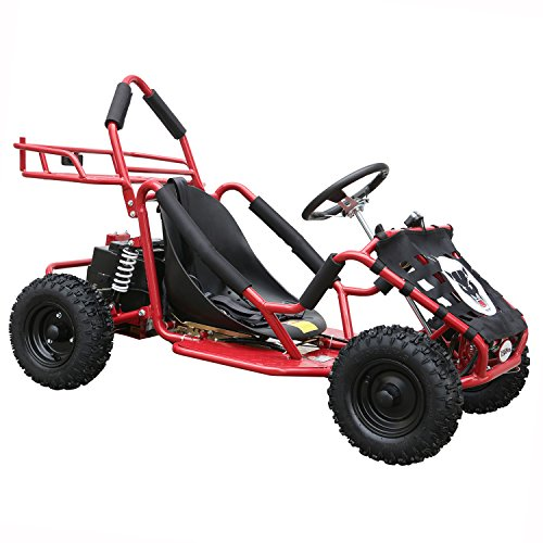JCMOTO Electric Go Karts For Kids 4 Four Wheelers Off Road Tire 48v 1800w Red (Upgraded versions)