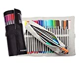 Staedtler Triplus Fineliners 20 Assorted Colours with Pencil Case 334 Pc20 (BLACK)