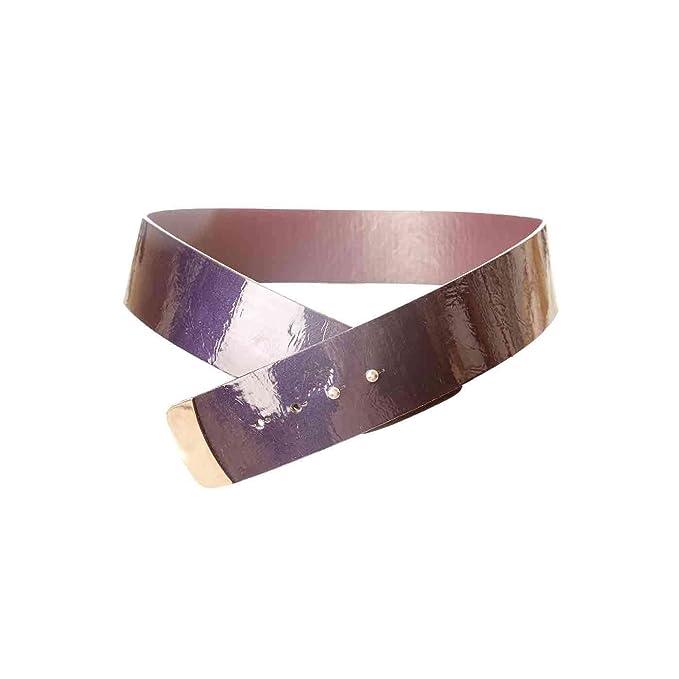 Miss Wear Line - Ceinture violette vernis à attache sans boucle ... a972be7b2d0