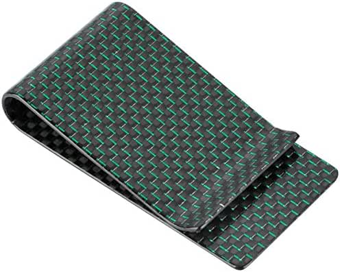 Travelambo Carbon Fiber Money Clip Front Pocket Wallet Minimalist Wallet Slim Wallet Credit Business Card Holder