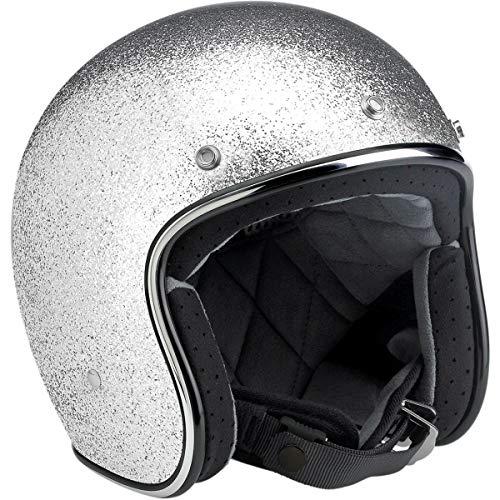 Biltwell Inc. Bonanza Solid Helmet, Distinct Name: Silver, Gender: Mens/Unisex, Helmet Category: Street, Helmet Type: Open-face Helmets, Primary Color: Silver, Size: XS BH-SIL-DOT-XS