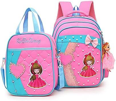 CPDSO Mochilas Infantiles Mochilas Escolares para Niños Princesa Linda Bowknot Ortopédica Mochila Satchel Bag Impermeable Mochila